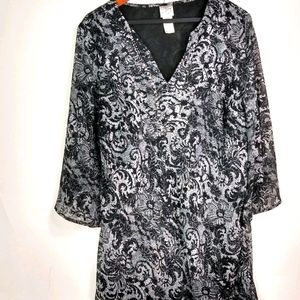 Fashion Bug Black White Boho Top 18 20 Plus